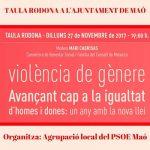 Taula rodona: Dia Internacional de l'Eliminació de la Violència contra la Dona